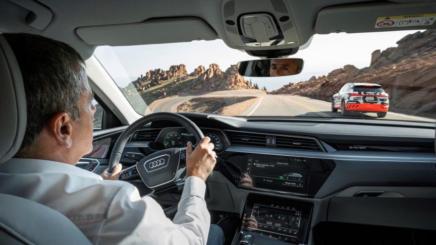 Audi e-tron prototype i rekuperationstest på Pikes Peak - interiør