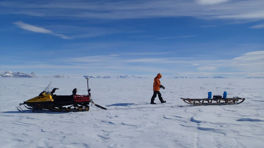 Dr Kate Winter pictured on a previous trip to Antarctica