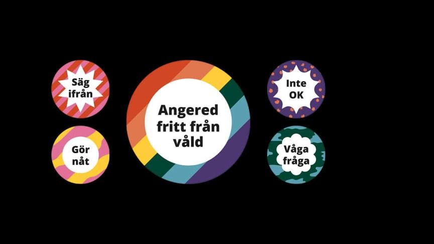 Det finns många olika sätt att agera mot våld, som att säga ifrån eller våga fråga någon hur någon har det.