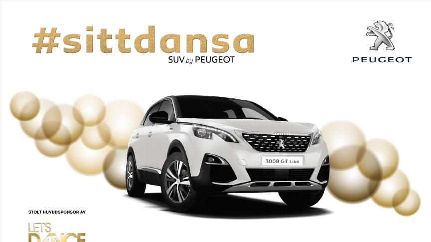 Peugeot Sverige är stolt sponsor av Let's dance.