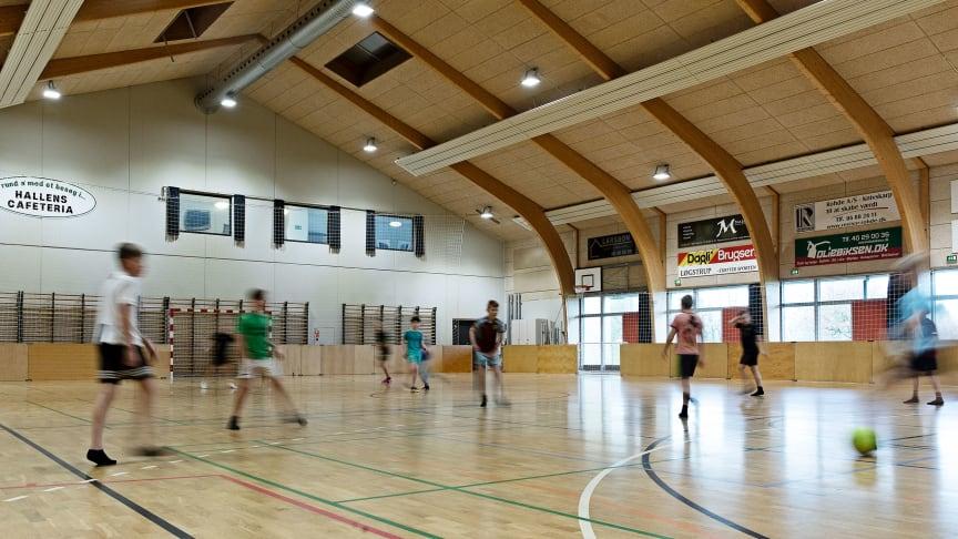 Billede: Løgstrup hallen - Energistyrelsen.