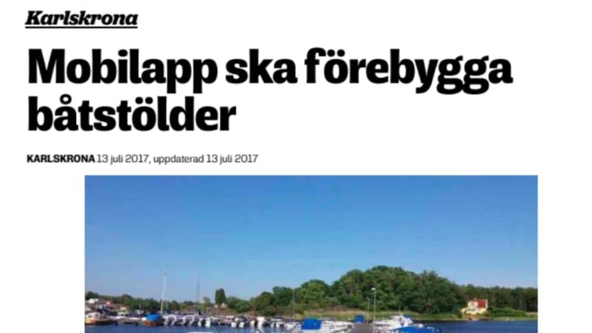 CoBoats ska förebygga båtstölder i Karlskrona