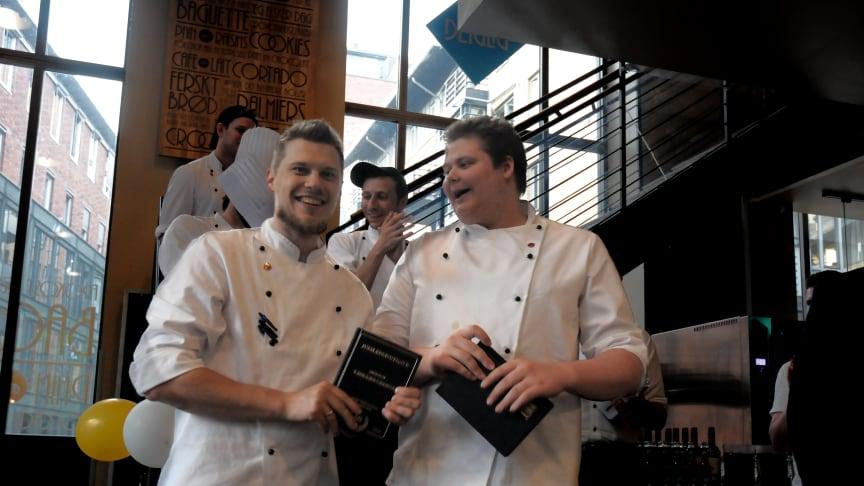 SiO Mat og Drikke ved Morten Korsnes (til venstre) og Niklas Trondsen er  blant finalistene i Community Catering NM 2018.  Landets fremste faglærte kokker møtes i finalen i Oslo 11. og 12. september.