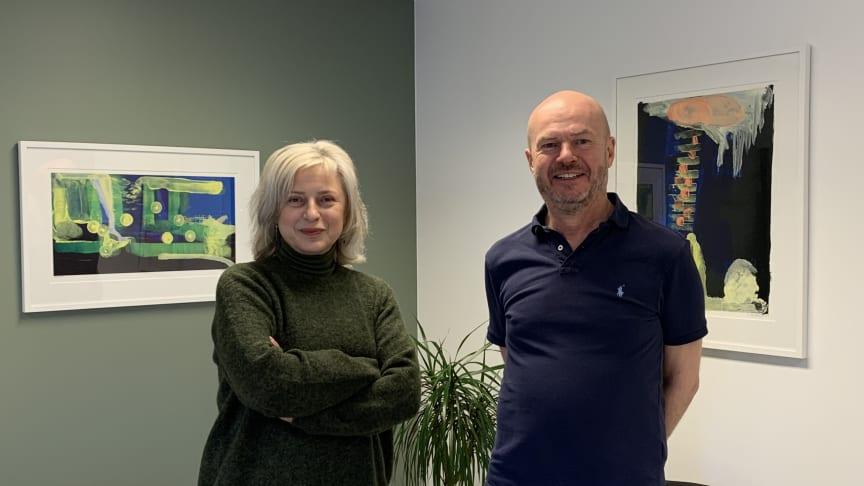 NNHs generalsekretær Lidia I. Myhre og NKMs styreleder Sondre Fagerberg
