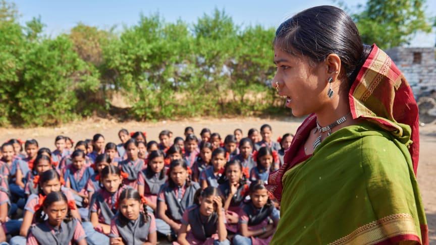 Barn i Bromma möter indisk hjälte som kämpar emot barnäktenskap