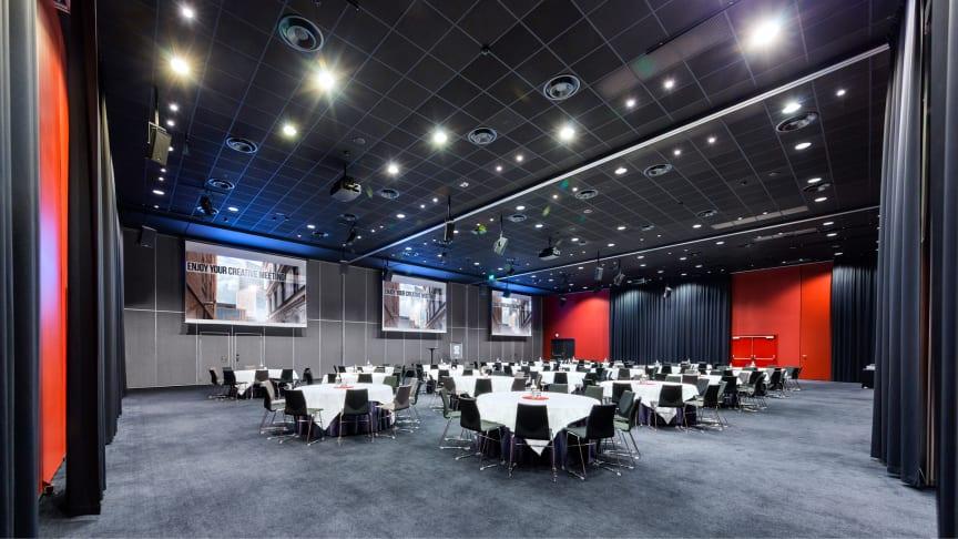 Clarion Malmö Live har 23 konferenslokaler och 444 hotellrum.
