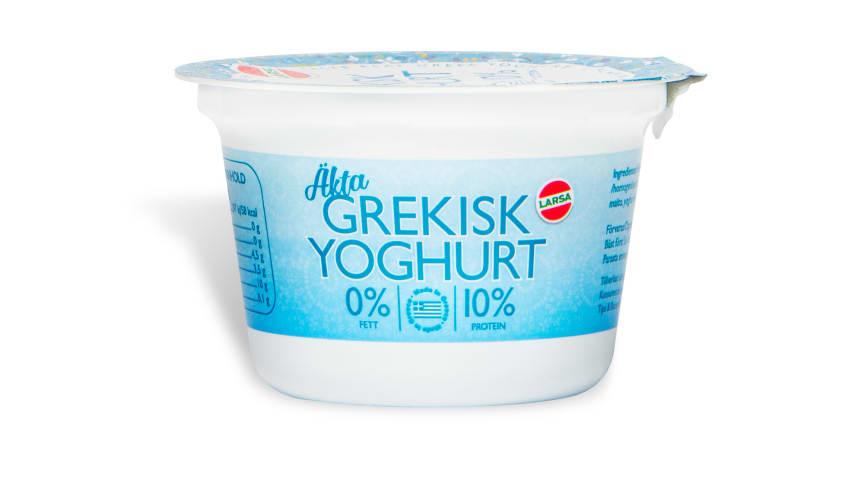 Larsas grekiska yoghurtsortiment finns att hitta på Ica, Coop, Axfood (Willys, Hemköp och Tempo), CityGross samt Netto.