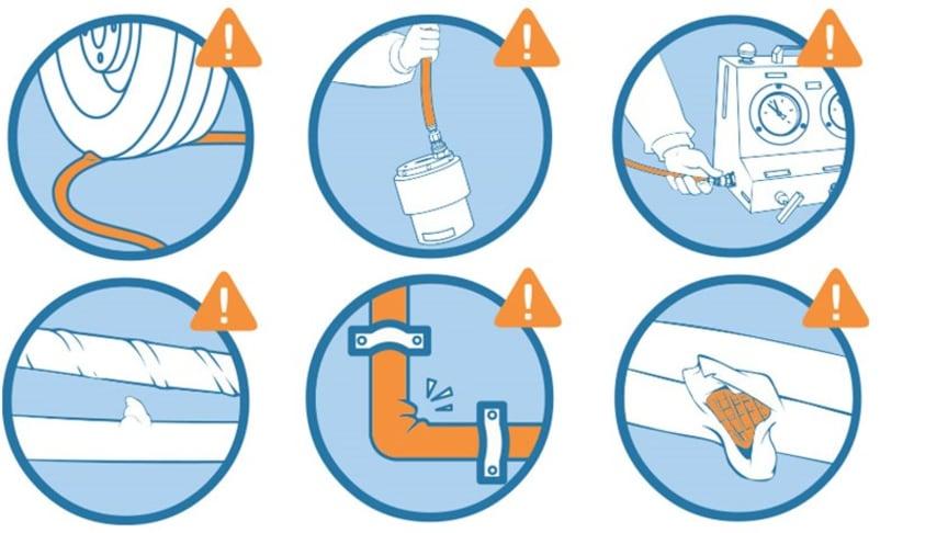Undgå slangeskader når der arbejdes med højtrykshydraulik