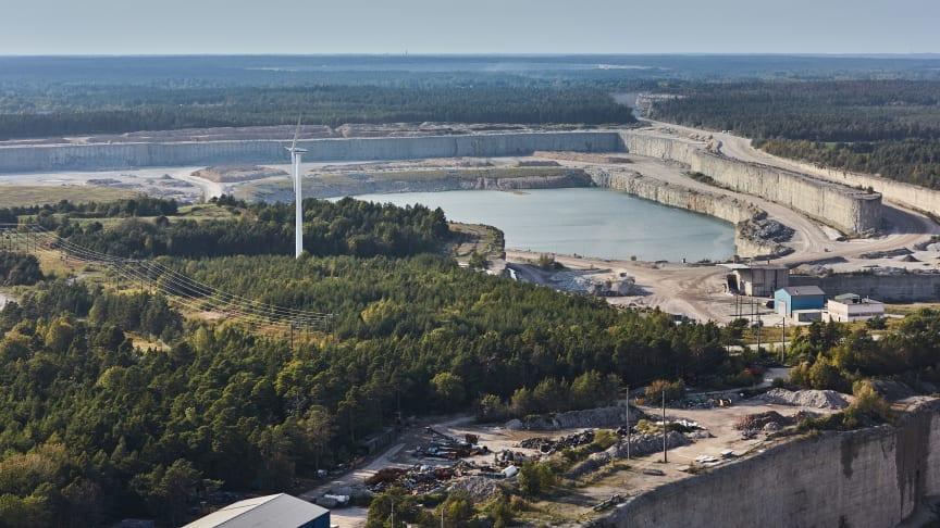 Cementa i Slite på Gotland