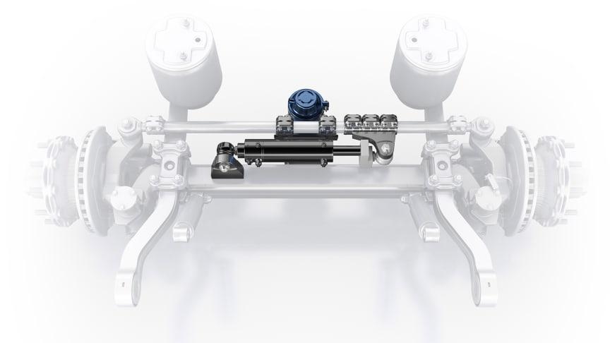 Mit der neuen elektrohydraulischen Zusatzlenkung Active Reverse Control erschließt BPW die Manövriervorteile der Nachlauflenkachse erstmals auch für das Rückwärtsrangieren.