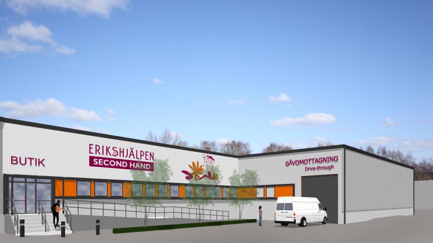 Jönköping får den största Erikshjälpenbutiken