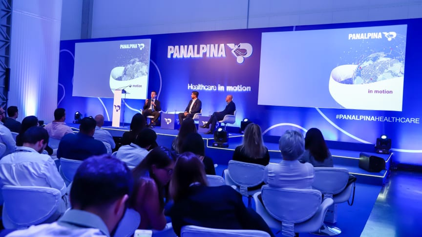 Discussing the essential role of logistics in the healthcare industry: Brazilian regulatory experts Adriano Pitoli (left) and Dirceu Barbano (right), with Marcelo Caio Bartolini D'Arco, country manager, Panalpina Brazil. (Photo: Panalpina)