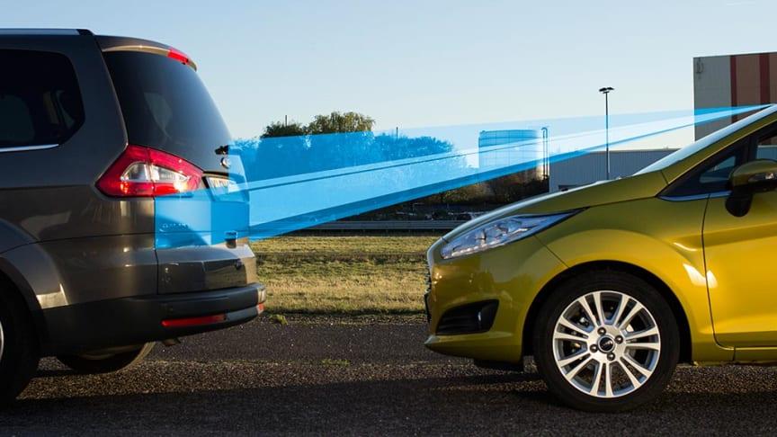 """Nye Ford Fiestas sikkerhetsteknologi """"Active City Stop"""" fanger opp og behandler 15 bilder på et blunk"""