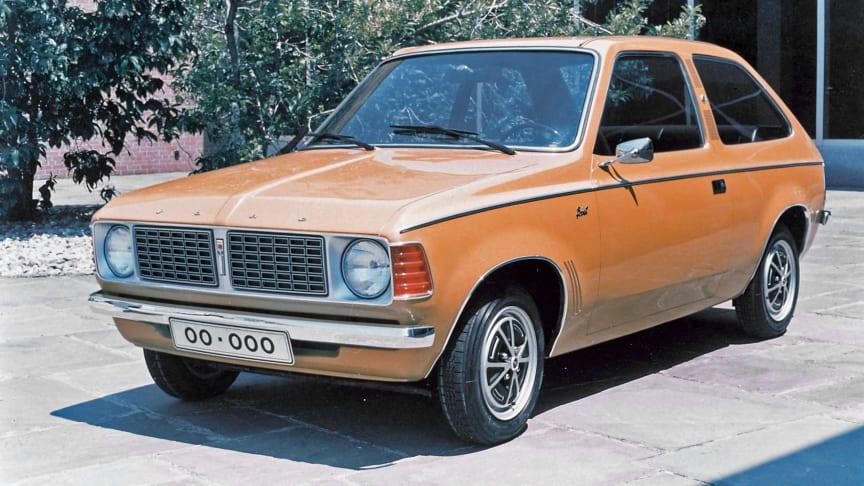 FØRSTEMANN: Denne konseptbilen fra 1974, kalt Bobcat, var starten på eventyret Ford har hatt med sjarmøren Ford Fiesta.