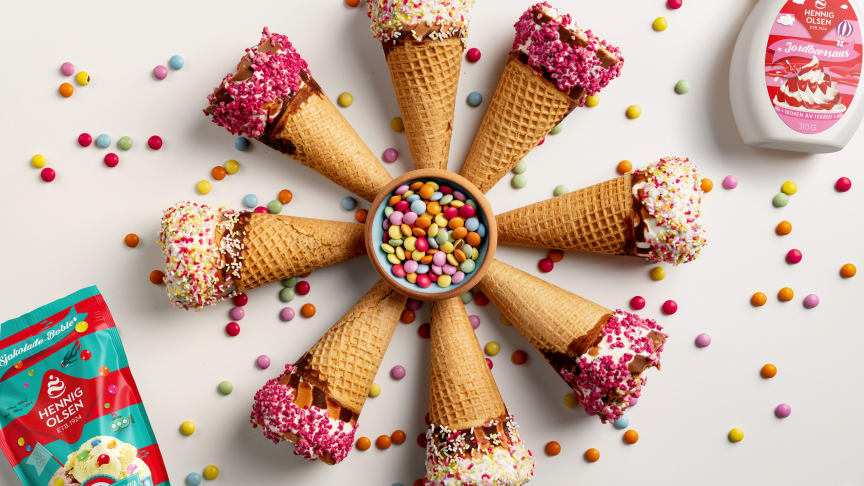 Nå får du iskremtilbehør fra Hennig-Olsen Is!