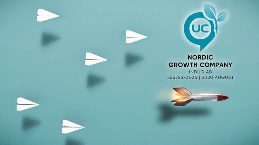 UC tilldelar Induo utmärkelsen Nordiskt Tillväxtföretag