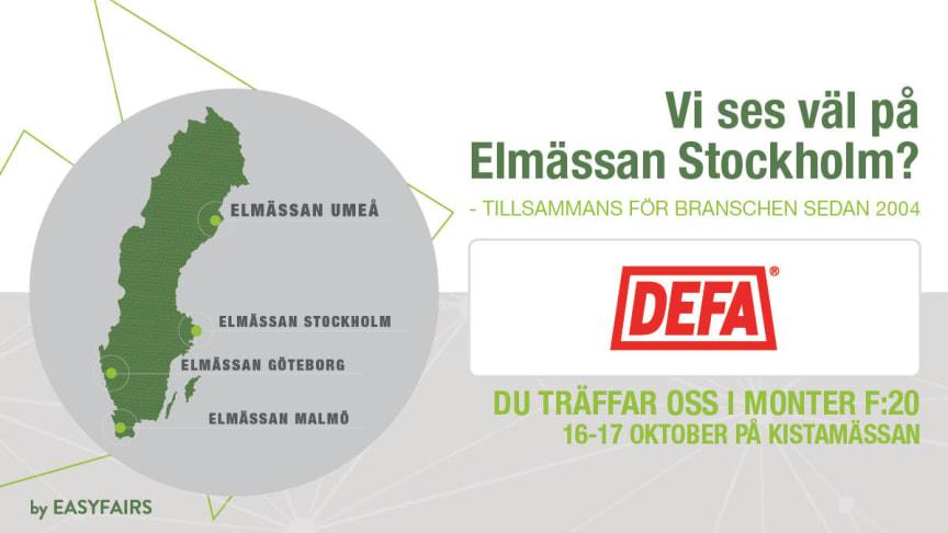 DEFA ställer ut på Elmässan i Kista