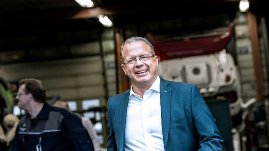 Martin Lundstedt, Volvokoncernens vd, ser stora utmaningar men också möjligheter för transportbranschen i framtiden.