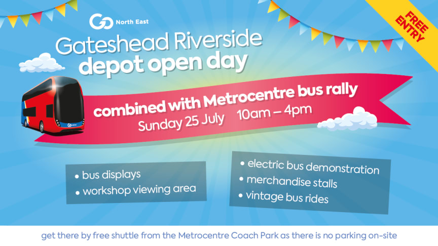 Go North East to host open day event at Gateshead Riverside depot this Sunday