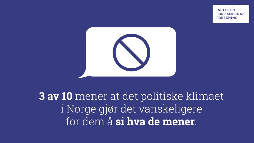 Nye tall: Hvor går ytringsfrihetens grenser?