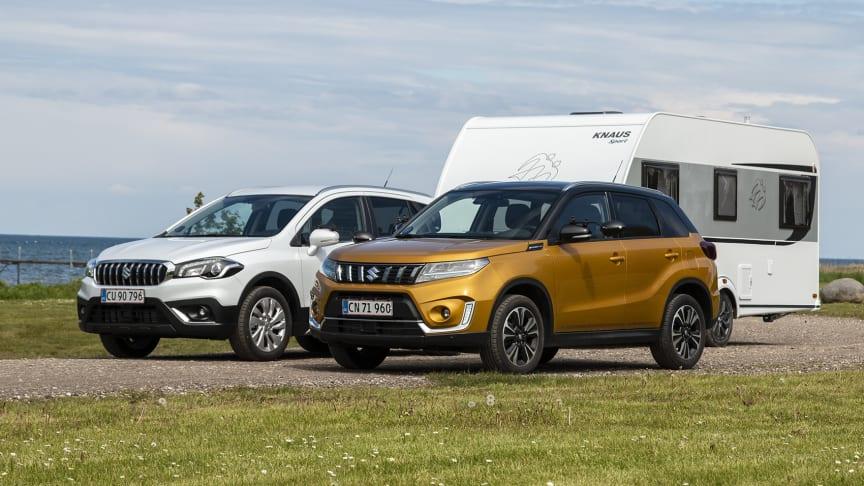 Suzuki Vitara Hybrid og S-Cross Hybrid er nu godkendt til at køre med op til 1500 kilo anhængervægt.