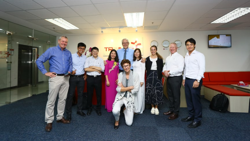 Representatives from the Norwegian Embassy, The Trainor Group and Trainor Vietnam. Photo: Trainor Vietnam