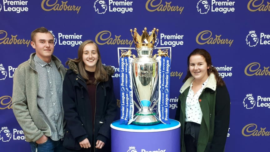 Ryan Hadley, 2nd year Bournville  apprentice, Kate Rose and Lucy Carter, 1st year apprentices from Bournville RDQI.