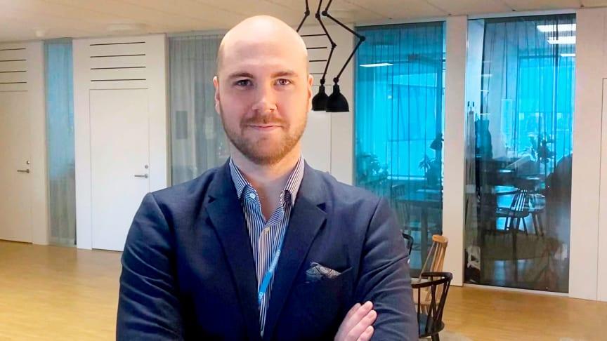 Lukas Molinder är AddMobiles nya account manager på Stockholmskontoret. Bild: AddMobile AB