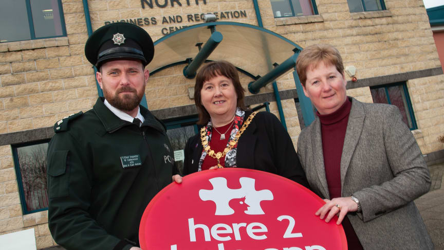 The #Here2Help roadshow is taking place on Wednesday 12 February at Ballymena North.