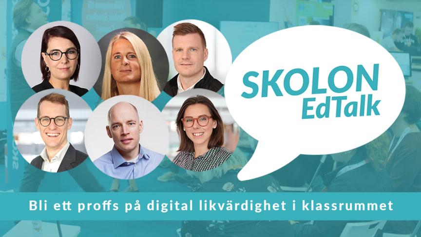 Digitalt event med Skolon EdTalk - bli ett proffs på digital likvärdighet i klassrummet