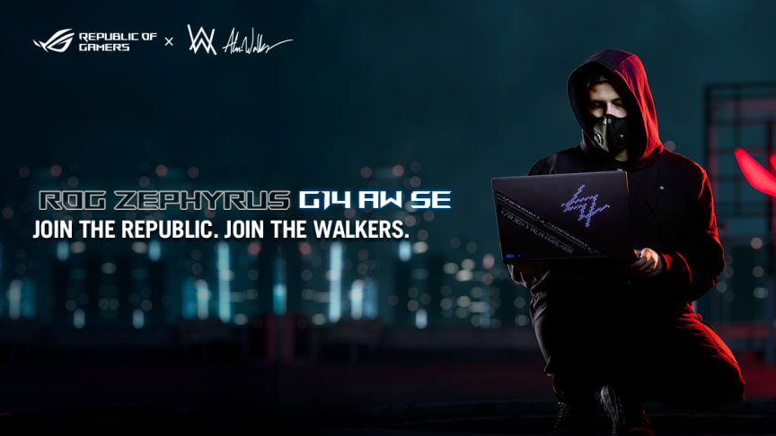 The powerful gaming and creative laptop ROG Zephyrus G14 gets a facelift courtesy of world-renowned artist, DJ and producer Alan Walker.