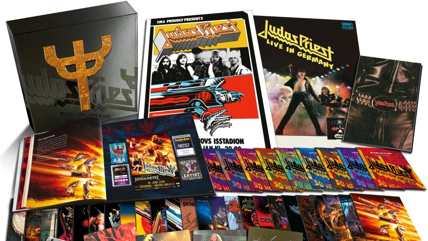 """Judas Priest firar 50 år som band med att släppa en limiterad samlingsbox – """"50 Heavy Metal Years Of Music"""""""