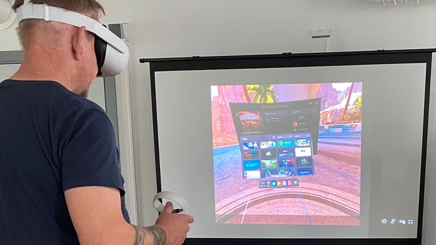 På Eyragården i Kävlinge kan du testa VR-glasögon den 6 oktober, ett av många arrangemang under Skåneveckan för psykisk hälsa.