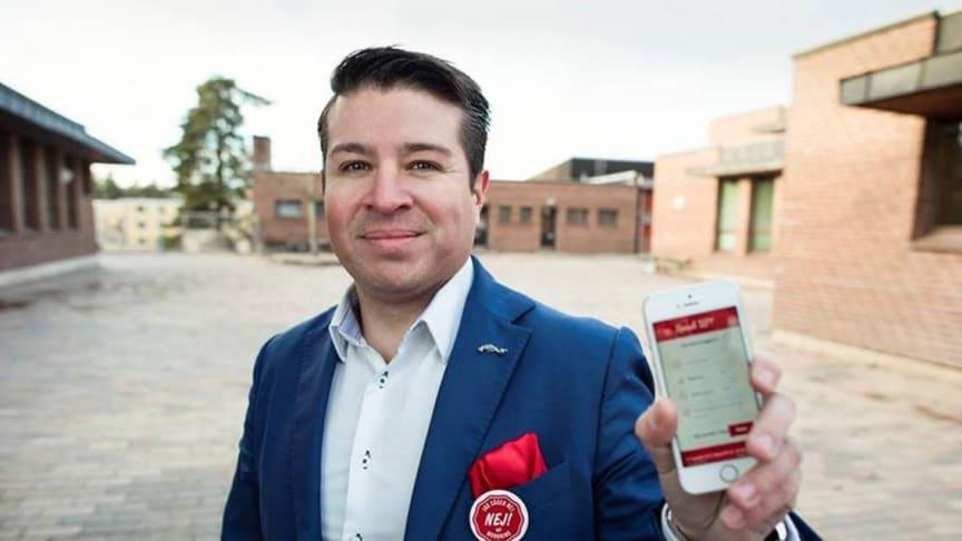 Tobias Wernius, grundare av startupbolaget Speak Up!