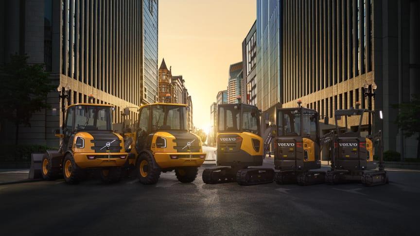Volvo CE bidrar till en hållbar framtid med det största utbudet av elmaskiner