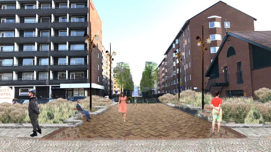 Visionsbild Nedre Nytorgsgatan/Nedre Nytorgsbacken.