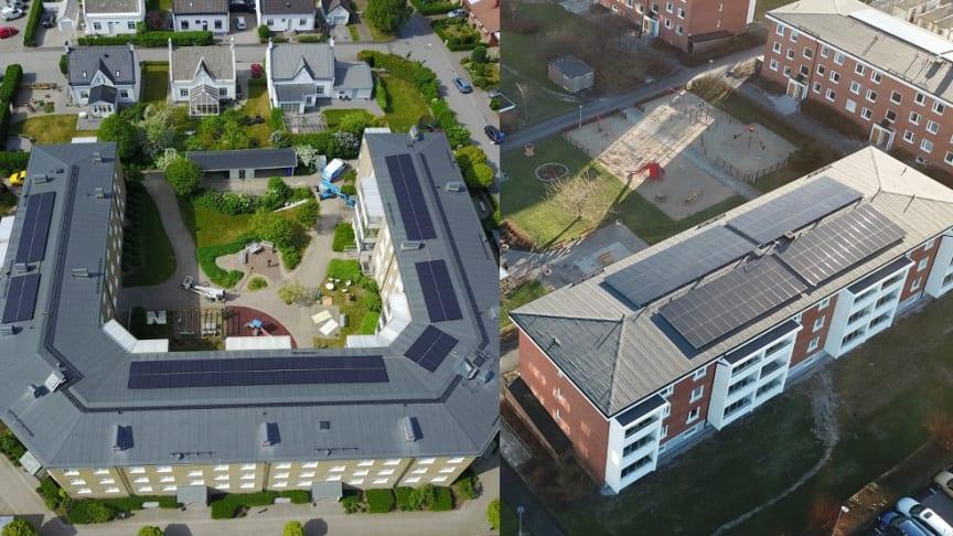 Solel står för halva elanvändningen i bostadsrättsföreningar i Trelleborg och Ystad