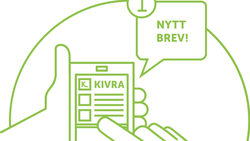 Vill du få en pushnotis när du får ny post i Kivra?