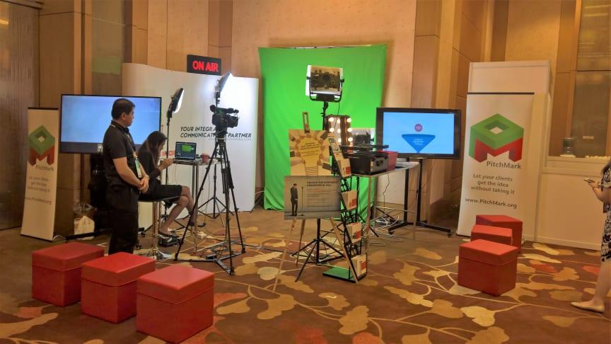 Our temporary green screen studio at Mumbrella 360 Asia 2017