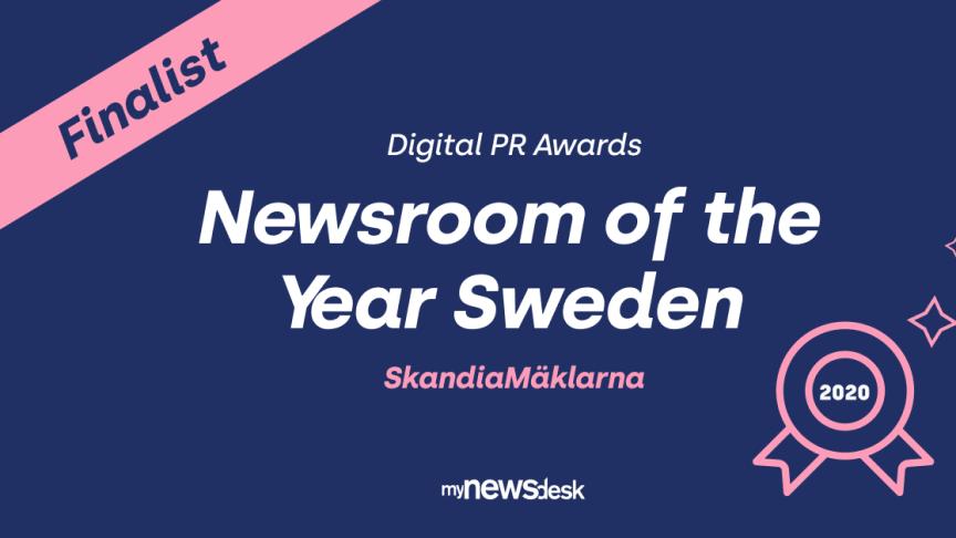 """SkandiaMäklarna är en av finalisterna till utmärkelsen """"Newsroom of the year Sweden"""""""