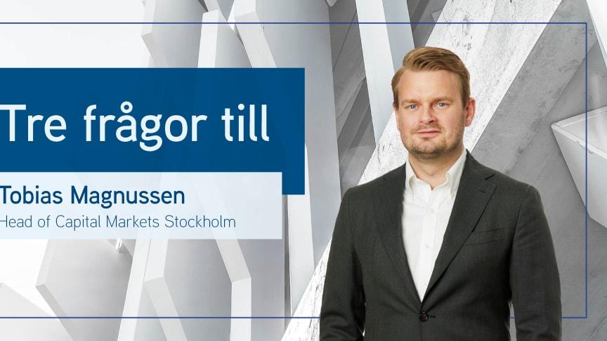 Tobias Magnussen, Head of Capital Markets Stockholm.