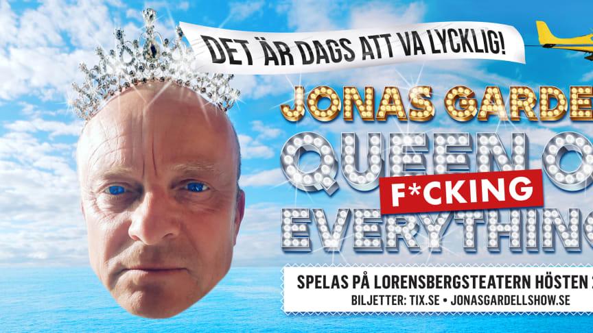 """Jonas Gardells show """"Queen of f*cking everything"""" till Göteborg hösten 2019"""