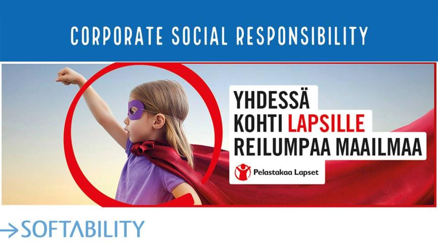 Softability lahjoitti hyväntekeväisyyteen auttaakseen ahdingossa olevia perheitä