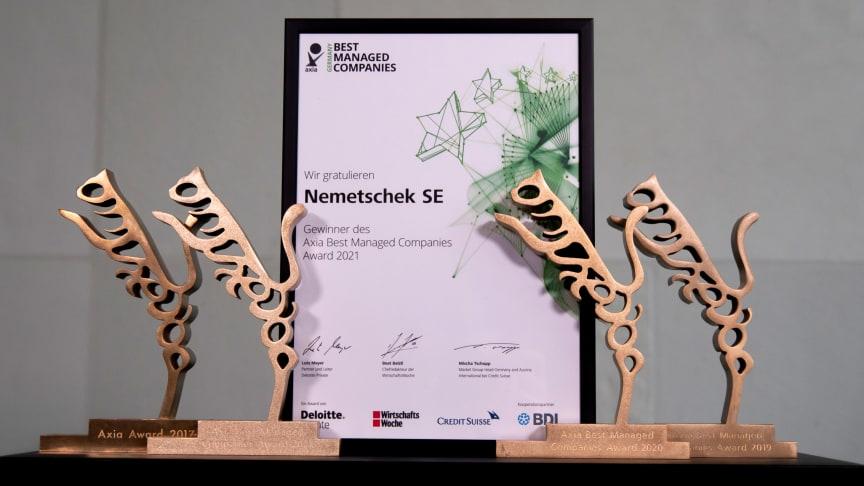 Nemetschek Group erneut mit AxiaBest Management Companies Award für hervorragend geführte Unternehmen ausgezeichnet