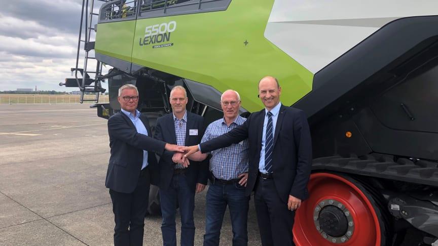 Fra venstre: Michael Husfeldt, Fredrik Bergan, Aage Bergan og Jens Skifter.