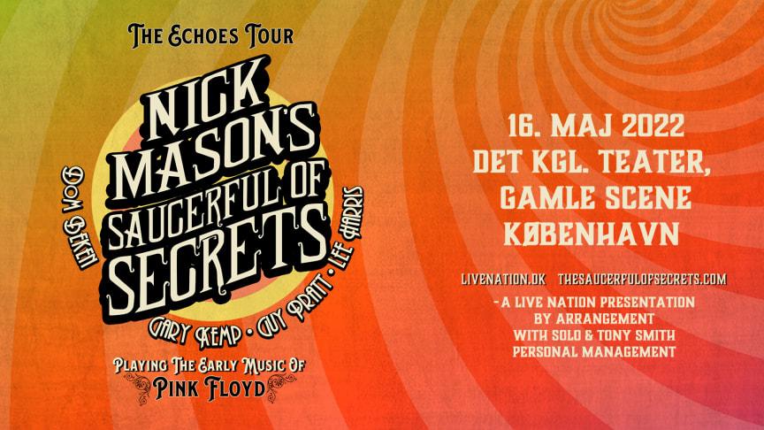 Nick Mason's Saucerful Of Secrets på Det Kgl. Teater, Gamle Scene mandag 16. maj 2022