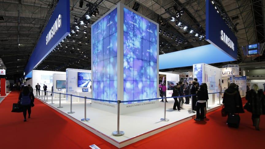 Samsung presenterar nyheter på ISE i Amsterdam