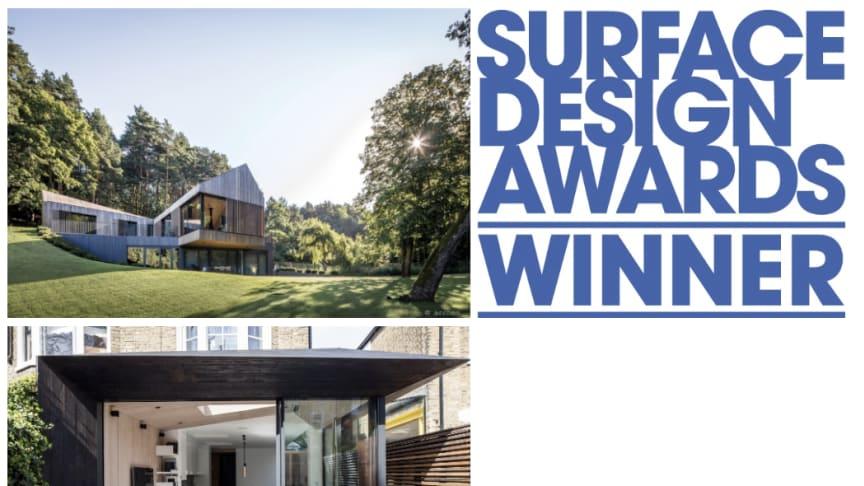 Kebony Holz gewann bei den prestigeträchtigen Surface Design Awards 2018  in zwei Kategorien: Sustainable Exterior Surface und Housing Exterior Surface