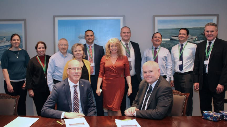 Irish Ferries signed an agreement with Hogia Ferry Systems.