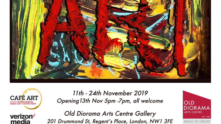 Cafe Art Collection 2019 opens on 11 November. This poster is by John Sheehy.